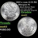 1897-s vam 13 I5 R6 Morgan Dollar $1 Grades Select Unc