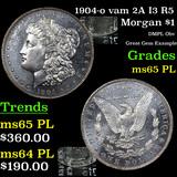 1904-o vam 2A I3 R5 Morgan Dollar $1 Grades GEM Unc PL