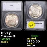 1921-p Morgan Dollar $1 Graded By SEGS