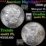 ***Auction Highlight*** 1896-p Morgan Dollar $1 Graded ms65 PL By SEGS (fc)