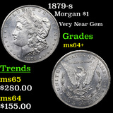 1879-s Morgan Dollar $1 Grades Choice+ Unc