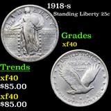 1918-s Standing Liberty Quarter 25c Grades xf