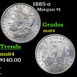 1885-o Morgan Dollar $1 Grades Choice Unc