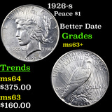 1926-s Peace Dollar $1 Grades Select+ Unc