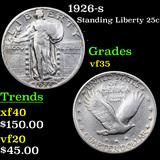 1926-s Standing Liberty Quarter 25c Grades vf++