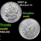 1897-p Morgan Dollar $1 Grades BU