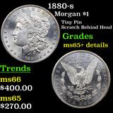 1880-s Morgan Dollar $1 Grades unc details