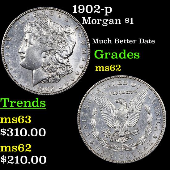 1902-p Morgan Dollar $1 Graded Select Unc