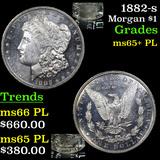 1882-s Morgan Dollar $1 Graded GEM+ PL