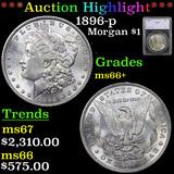 ***Auction Highlight*** 1896-p Morgan Dollar $1 Graded ms66+ By SEGS (fc)