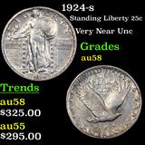 1924-s Standing Liberty Quarter 25c Graded Choice AU/BU Slider