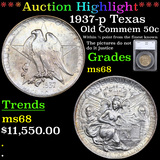 ***Auction Highlight*** 1937-p Texas Old Commem Half Dollar 50c Graded ms68 By SEGS (fc)