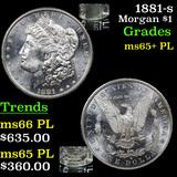 1881-s Morgan Dollar $1 Graded GEM+ PL