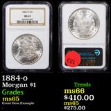 NGC 1884-o Morgan Dollar $1 Graded ms65 By NGC