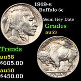 1919-s Buffalo Nickel 5c Graded Select AU