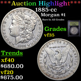 ***Auction Highlight*** 1885-cc Morgan Dollar $1 Graded vf++ By USCG (fc)