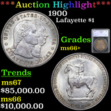 ***Auction Highlight*** 1900 Lafayette Dollar $1 Graded ms66+ By SEGS (fc)
