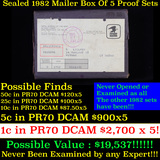 Original sealed box 5- 1982 United States Mint Proof Sets