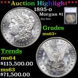 ***Auction Highlight*** 1895-o Morgan Dollar $1 Graded ms63+ By SEGS (fc)