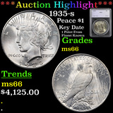 ***Auction Highlight*** 1935-s Peace Dollar $1 Graded ms66 By SEGS (fc)