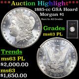 ***Auction Highlight*** 1885-cc GSA Hoard Morgan Dollar $1 Graded Select Unc PL By USCG (fc)