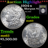 ***Auction Highlight*** 1904-s Morgan Dollar $1 Graded Select Unc By USCG (fc)