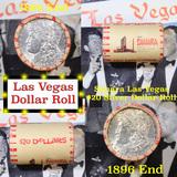 ***Auction Highlight*** Full Morgan/Peace Casino Las Vegas Sahara silver $1 roll $20, 1886 & 1896 en