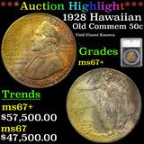 ***Auction Highlight*** 1928 Hawaiian TOP POP! Old Commem Half Dollar 50c Graded ms67+ By SEGS (fc)