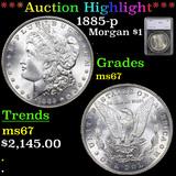 ***Auction Highlight*** 1885-p Morgan Dollar $1 Graded ms67 By SEGS (fc)
