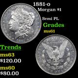 1881-o Morgan Dollar $1 Graded BU+