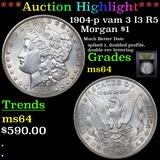 ***Auction Highlight*** 1904-p vam 3 I3 R5 Morgan Dollar $1 Graded Choice Unc By USCG (fc)