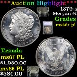 ***Auction Highlight*** 1879-s Morgan Dollar $1 Graded ms66+ pl By SEGS (fc)