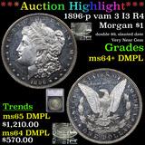 ***Auction Highlight*** 1896-p vam 3 I3 R4 Morgan Dollar $1 Graded ms64+ DMPL By SEGS (fc)