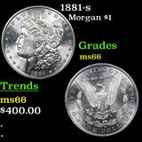 1881-s Morgan Dollar $1 Graded GEM+ Unc