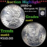 ***Auction Highlight*** 1880-o Morgan Dollar $1 Graded Select Unc By USCG (fc)