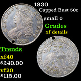 1830 Capped Bust Half Dollar 50c Graded xf details