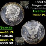 1880-s Morgan Dollar $1 Graded GEM+ PL