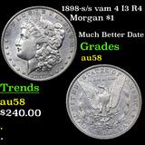 1898-s /s vam 4 I3 R4 Morgan Dollar $1 Graded Choice AU/BU Slider