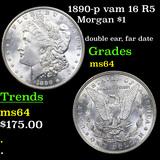 1890-p vam 16 R5 Morgan Dollar $1 Graded Choice Unc