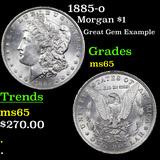 1885-o Morgan Dollar $1 Graded GEM Unc