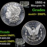 1881-s Morgan Dollar $1 Graded Select Unc+ DMPL