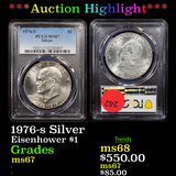 ***Auction Highlight*** PCGS 1976-s Silver Eisenhower Dollar $1 Graded ms67 By PCGS (fc)