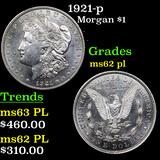 1921-p Morgan Dollar $1 Graded Select Unc PL