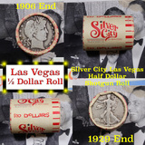 ***Auction Highlight*** Old Casino 50c Roll $10 Halves Las Vegas Casino Silver City 1906 Barber & 19