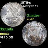 1878-s Morgan Dollar $1 Graded Select Unc