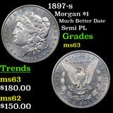 1897-s Morgan Dollar $1 Graded Select Unc