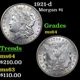 1921-d Morgan Dollar $1 Graded Choice Unc