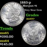 1883-p Morgan Dollar $1 Graded Choice+ Unc