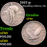 1927-p Standing Liberty Quarter 25c Graded xf