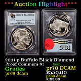 Proof ***Auction Highlight*** PCGS 2001-p Buffalo Black Diamond Modern Commem Dollar $1 Graded pr69
